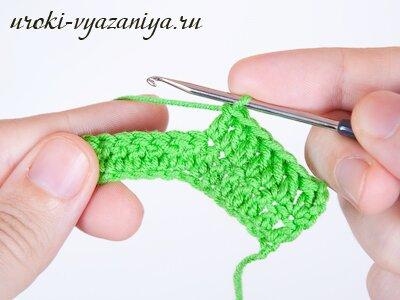 Вязания крючком для начинающих прибавка петель6