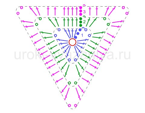 треугольник крючком