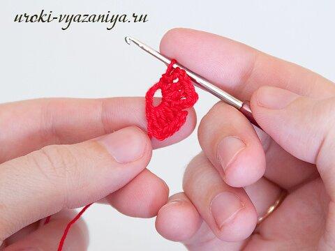 как связать цветочек крючком