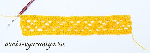 шарф крючком для начинающих