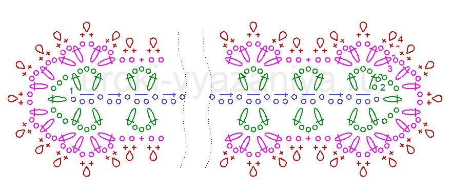 схема вязания закладки крючком