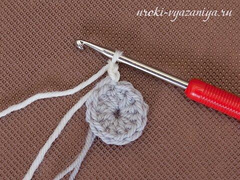 как связать варежки крючком